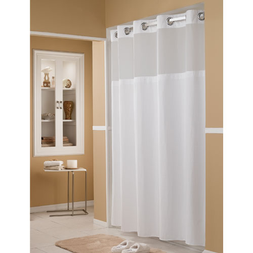 Hookless® Pique Waffle Polyester Shower Curtains w/ It's A Snap ...
