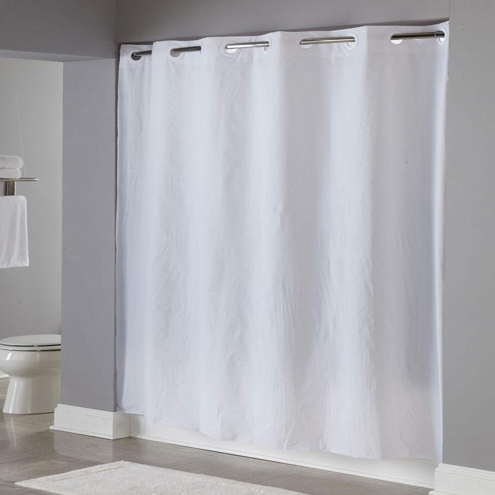Hookless 8 Gauge Pin Dot Vinyl Shower Curtain 71x77 White 12 Per Case Price Per Each